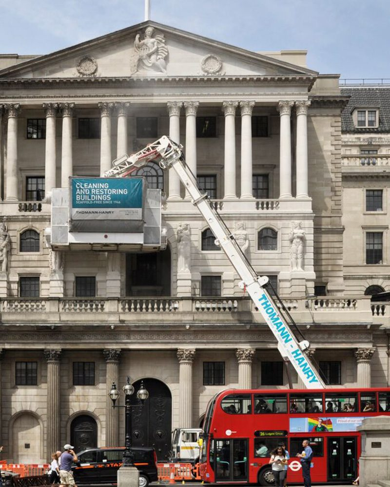 cleaning the Bank of England