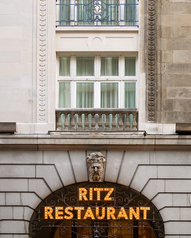 The Ritz Hotel, facade cleaning
