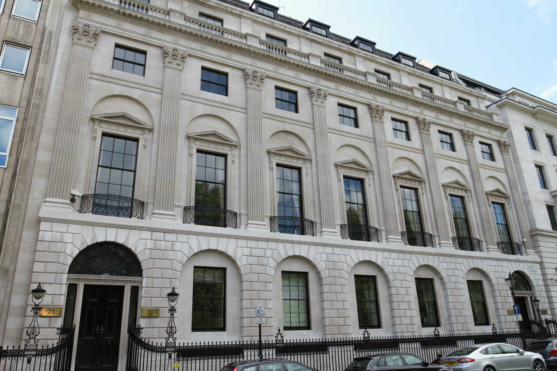 Facade Cleaning 20-21 St James's Square London