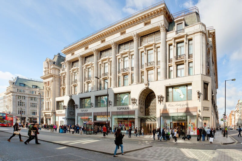 facade-cleaning-214-Oxford-Street-Topshop-London