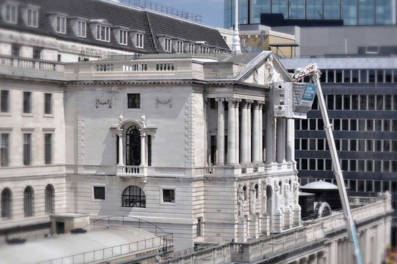 Facade Cleaning Bank of England London