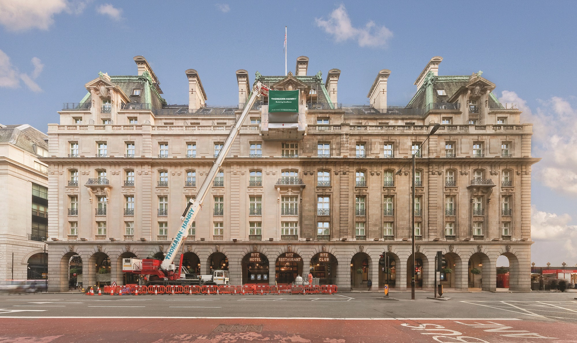 facade cleaning The Ritz Hotel Piccadilly, London