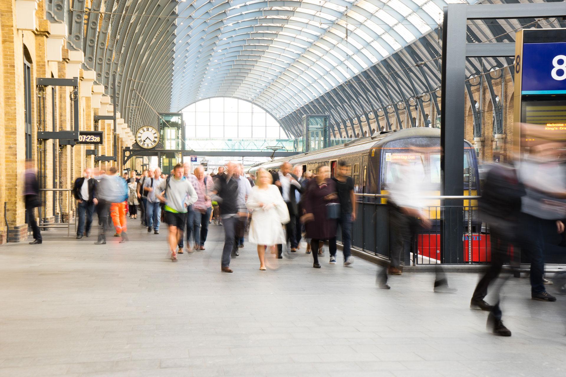 flooring protection, Kings Cross Station London