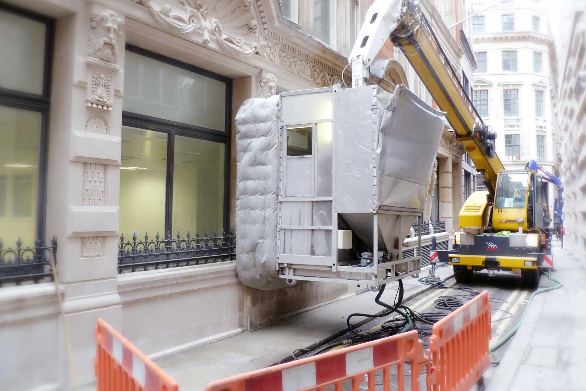 Narrow Lanes Access - facade cleaning