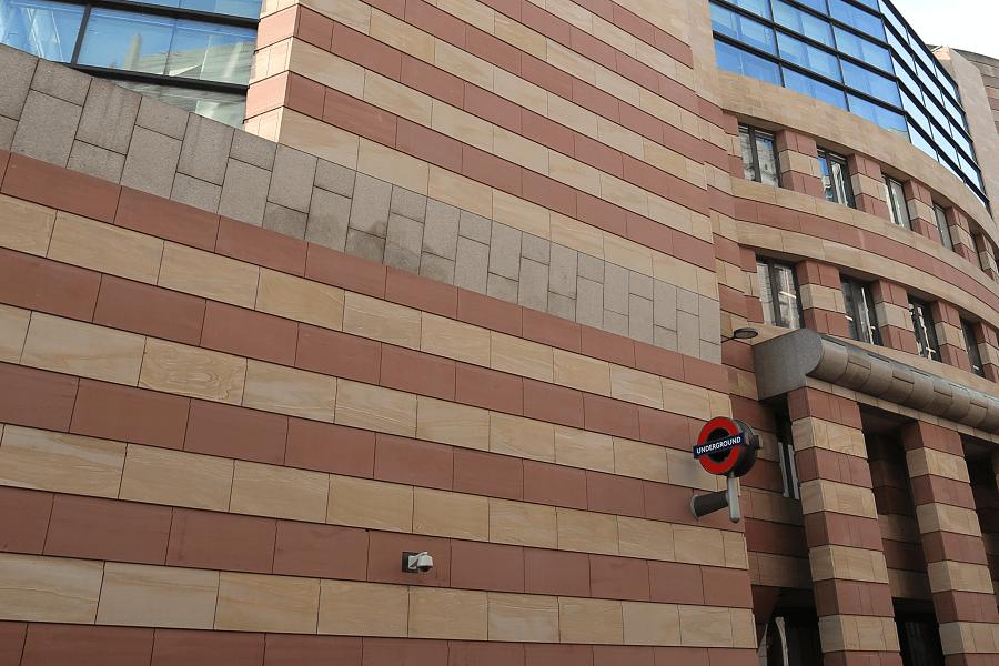sandstone facades