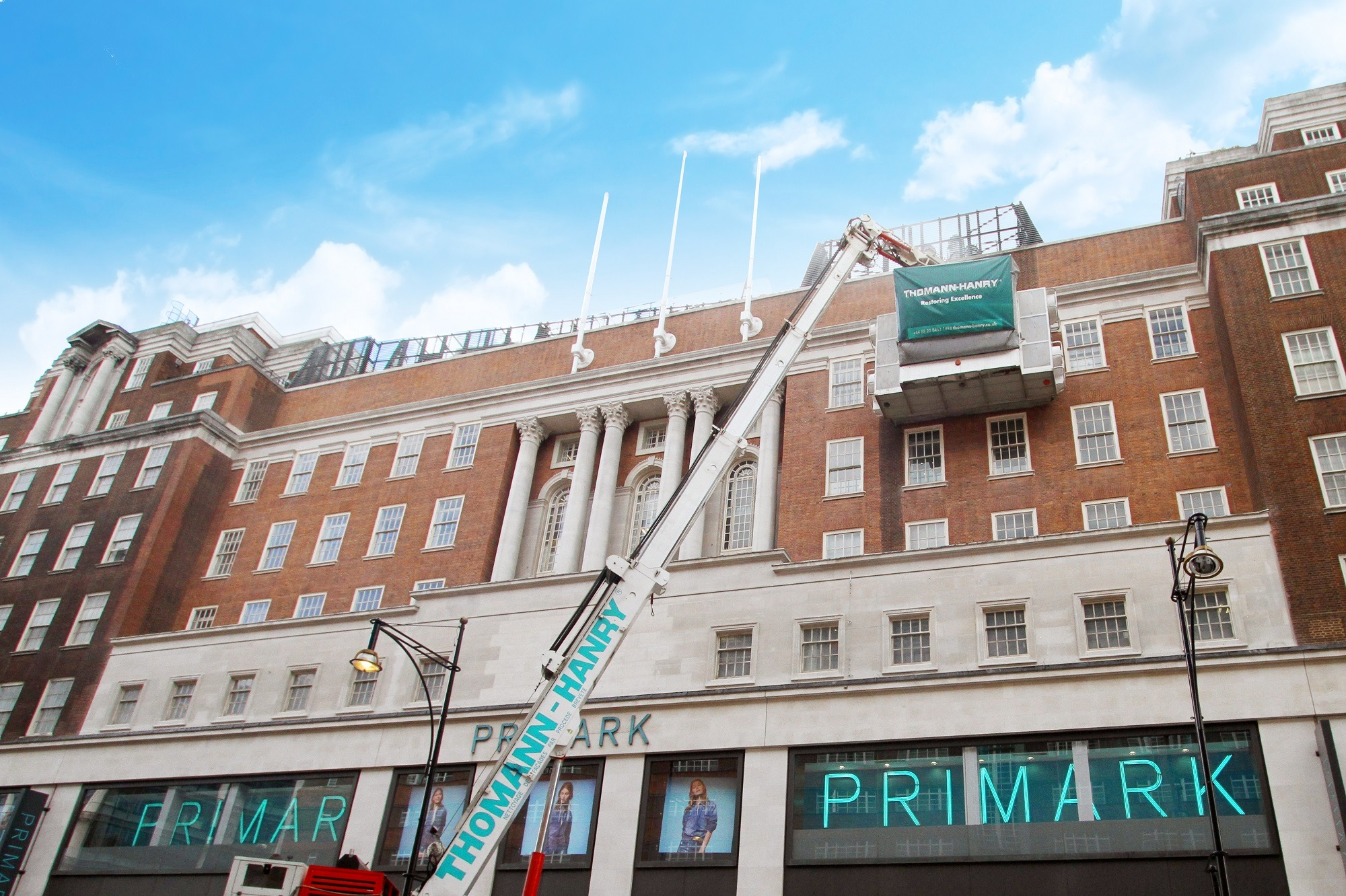 Primark flagship store brick work cleaning