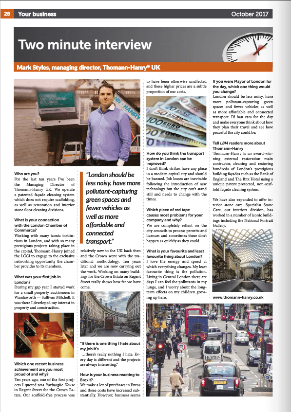 London Business Matters Magazine - Mark Styles interview