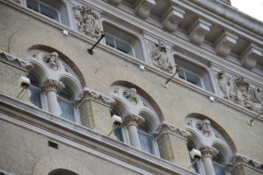 historic buildings facades