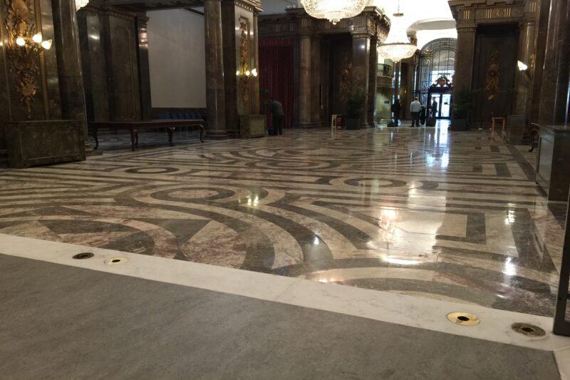specialist stone cleaning, terrazzo floor