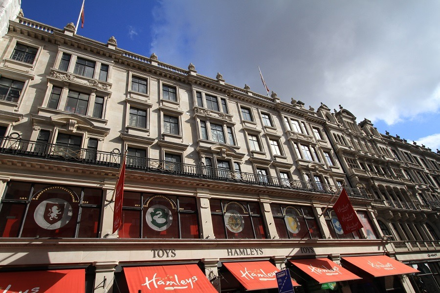 Hamleys toy store facade London