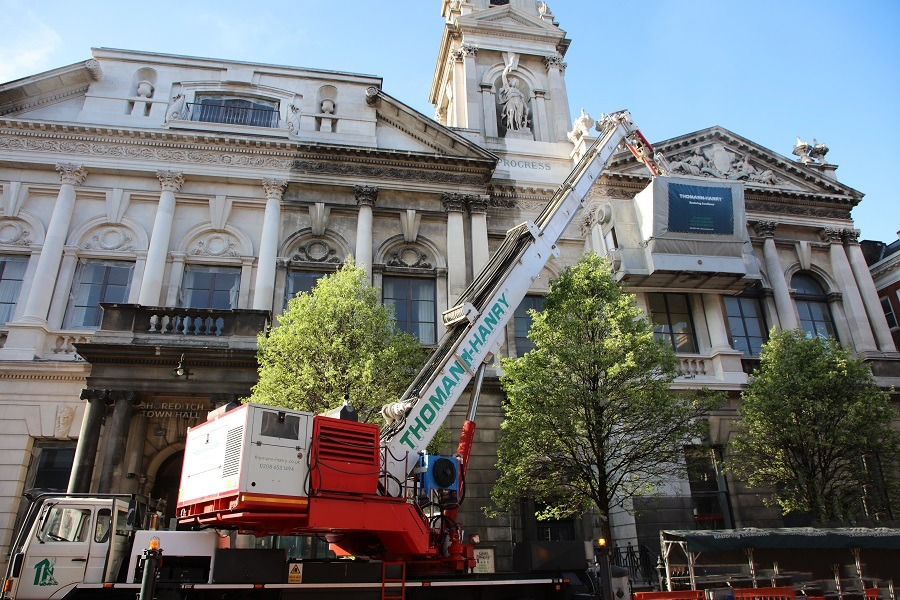 Shoreditch Town Hall facade cleaning